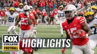 Michigan vs Ohio State | FOX COLLEGE FOOTBALL HIGHLIGHTS