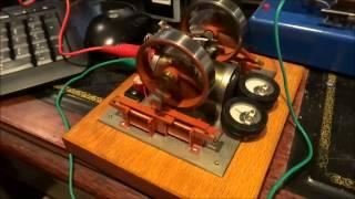 Burnt Orange 4 Coil Twin Crank Solenoid Engine