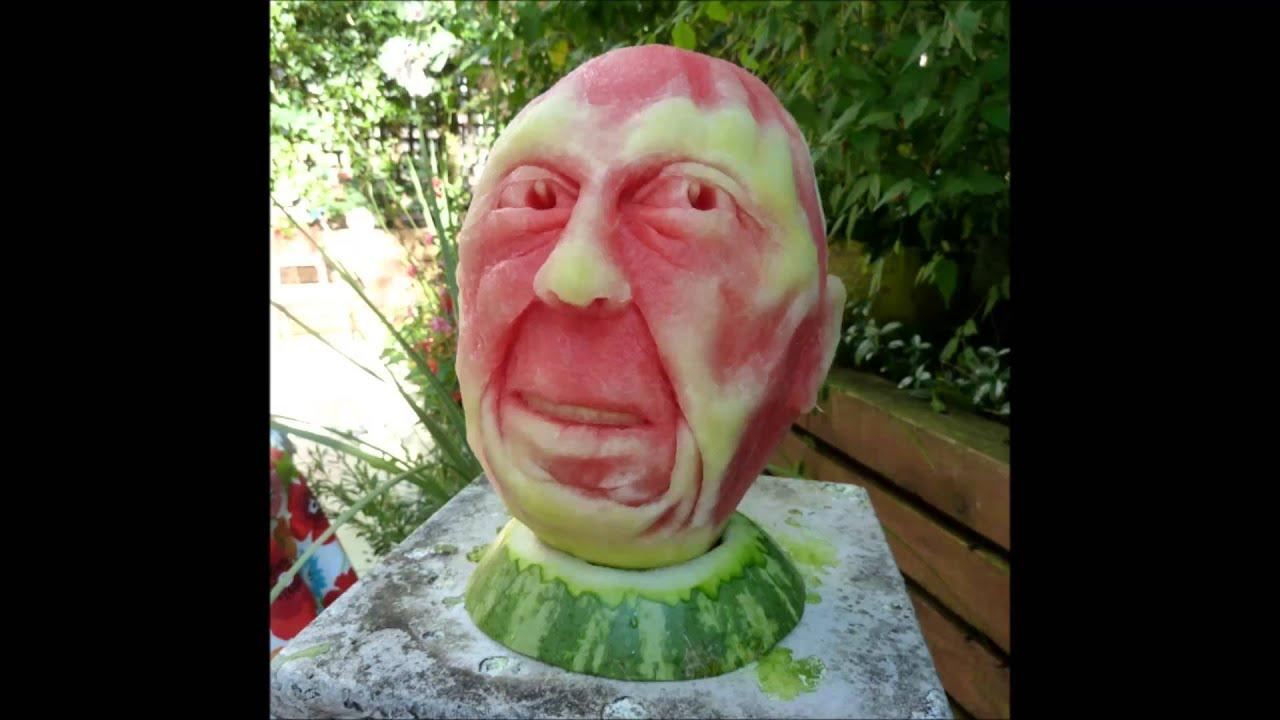 Extremamente Arte com melancia Impressionantes esculturas de melancia 2 - YouTube AP28
