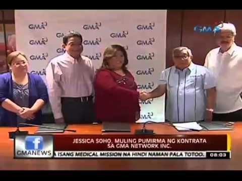24 Oras: Jessica Soho, muling pumirma ng   kontrata sa GMA Network Inc.