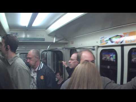 Getting onto Subway Train in Saint Petersburg, Russia Петербу́ргский метрополитен