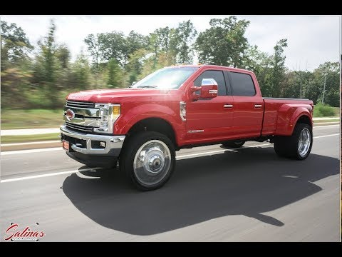 Beautiful Red 2017 Dually F 350 On 26 Inch Dually Wheels Youtube