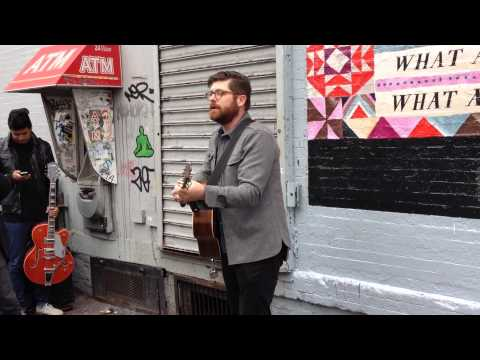 'The Engine Driver' -- Colin Meloy (the Decemberists) Busking In Brooklyn