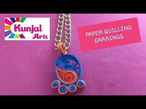 HOW TO MAKE SIMPLE DIY EASY PAPER QUILLING PENDANT/ QUILLING JEWELLERY / ACCESSORIES / PAPER ART
