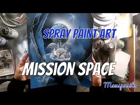 Mission Space – SPRAY PAINT ART by Mausposito
