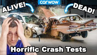 The most horrific crash tests - why you don't want an accident in an OLD car!