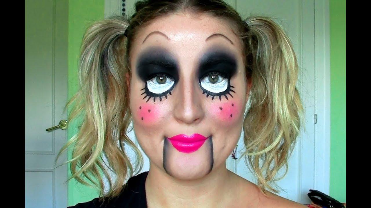 TUTORIAL Maquillaje de HALLOWEEN!! MUÑECA DIABÓLICA / ventrilocuo , YouTube