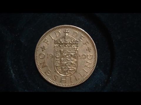 1959 One Shilling- United Kingdom (Mintage 19 Million)