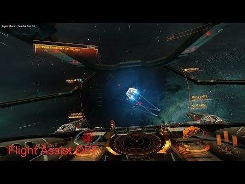Elite Dangerous: Basic maneuvering and toggling flight assis