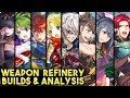 Eliwood, Nino, Tharja, Seth, Niles, Oboro, Hinata & Amelia Builds & Weapon Refine Review - FEH