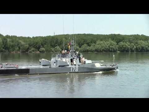 Román hadihajók Galatz mellett , 2017