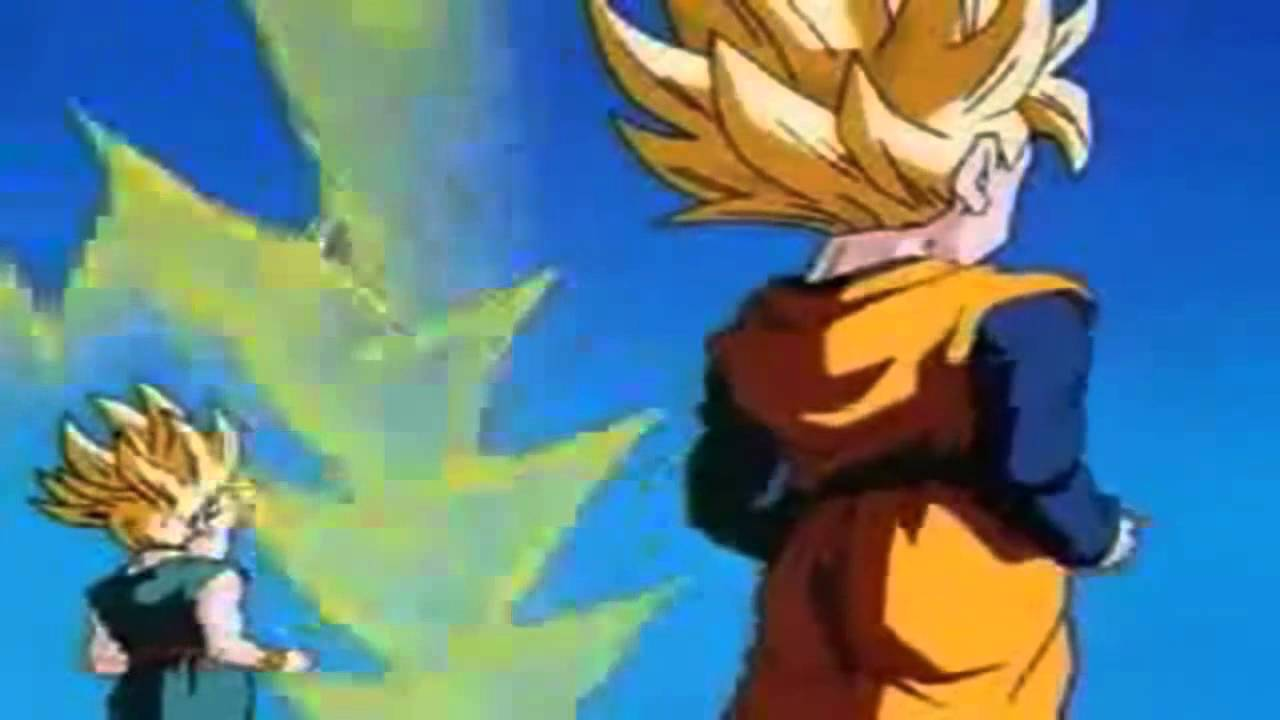 Goten And Trunks Fuse As Super Sayians - YouTube