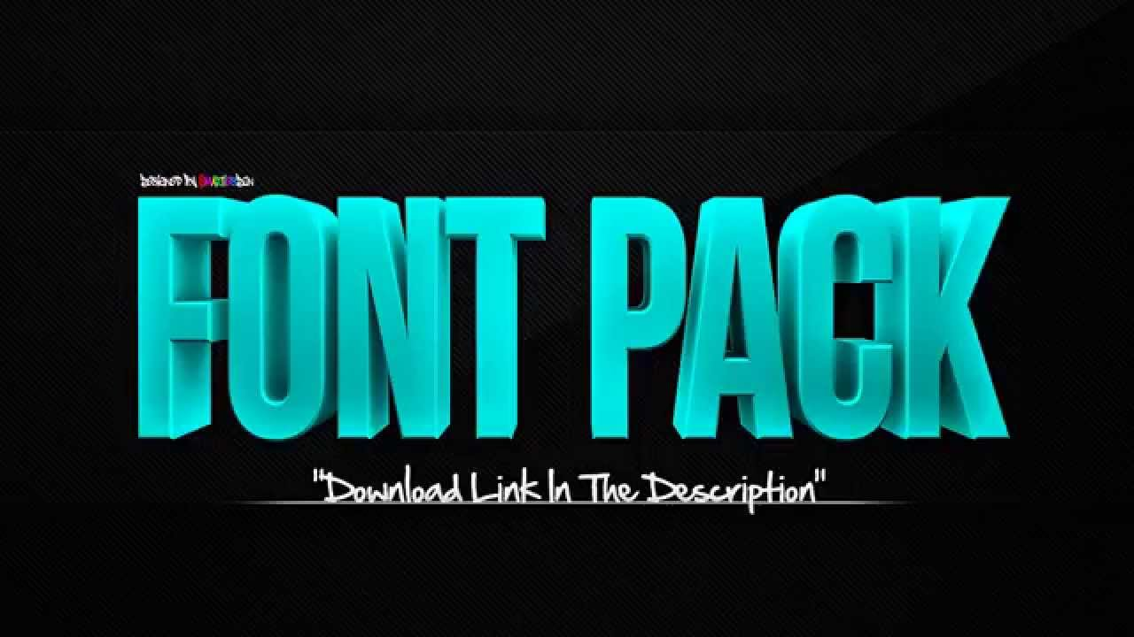 Download FREE FONT PACK | 2300+ FONTS - YouTube