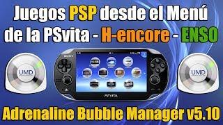 Lanzar juegos de PSP desde el menu de PSvita - Adrenaline Bubble Manager v5 10 H encore   ENSO