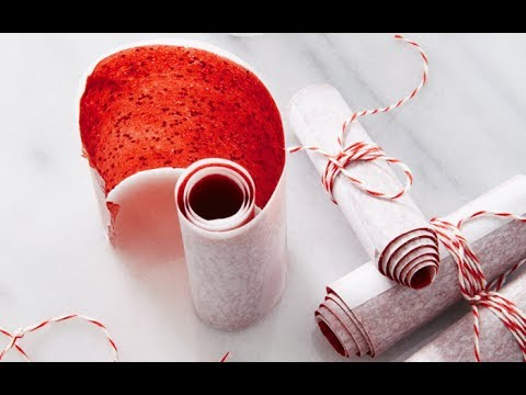 Strawberry Fruit Leather - Healthy Snack Recipes - Weelicious