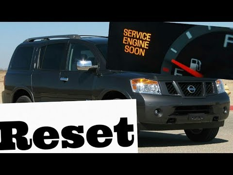 How to reset Service Engine soon Light on a 2005 Nissan Armada