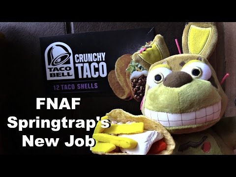 FNAF Plush Episode 35 - Springtrap's New Job Taco Bell
