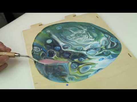 Tri-Art's Pouring Medium & Cell Flow - Dirty Pour