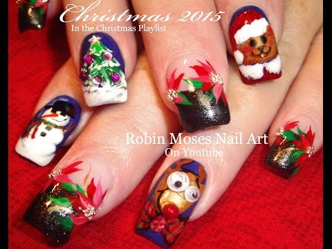 Weihnachtliche Fingernaegel