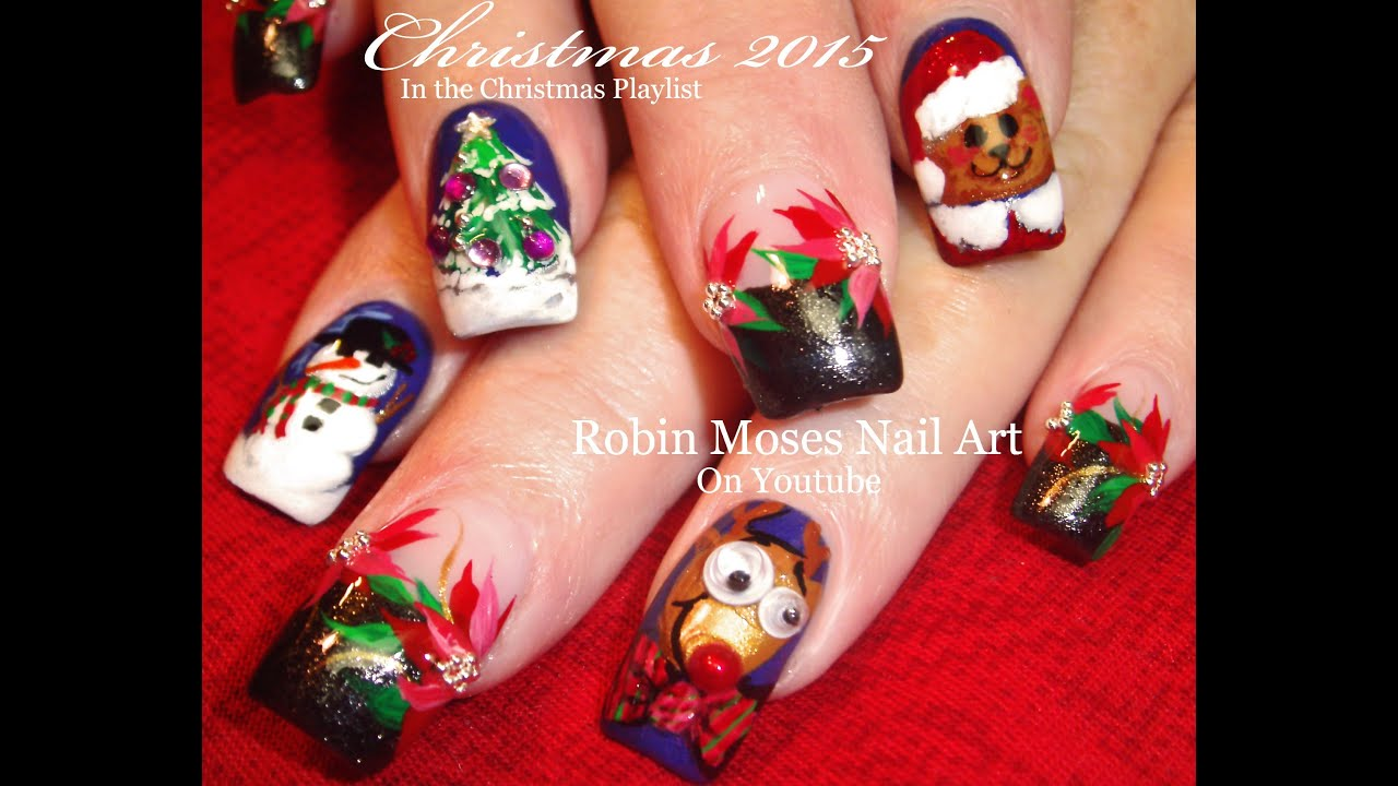 5 Different Christmas Nail Art Designs | Fun Cute Xmas ...