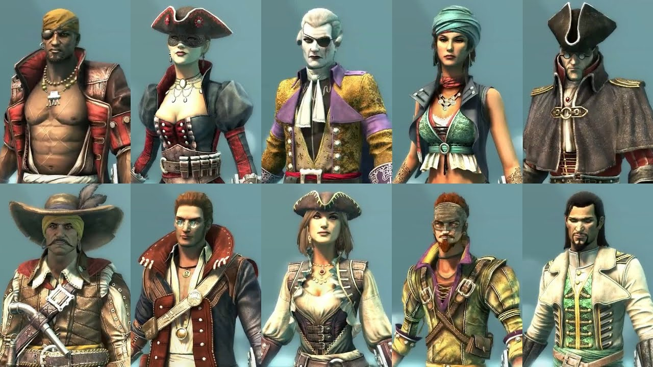 Wanted All Ac4 Multiplayer Characters Guilty To Sail Under The