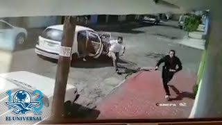 Captan en video a mujer que escapa de presunto intento de secuestro en Ecatepec