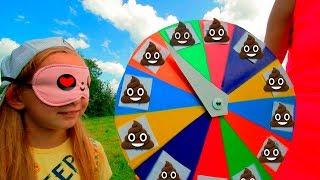 Дети сами сделали смешную игру // Мы семья в деревне