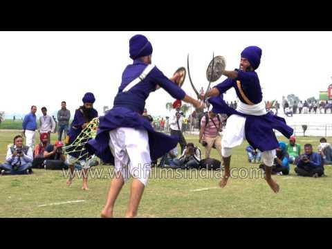 Sword fight in Punjab, Sikh Gatka style