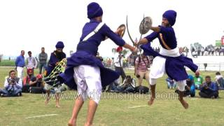 Sword fight in Punjab, Sikh Gatka style