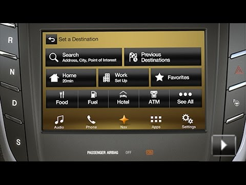 sync 3 navigation overview lincoln how to video youtube. Black Bedroom Furniture Sets. Home Design Ideas