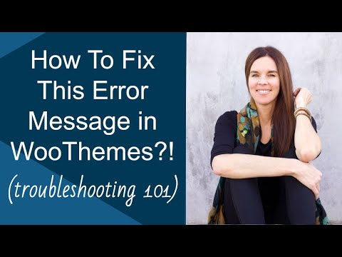 How To Fix This Error Message In WooThemes?! (WordPress) - 동영상