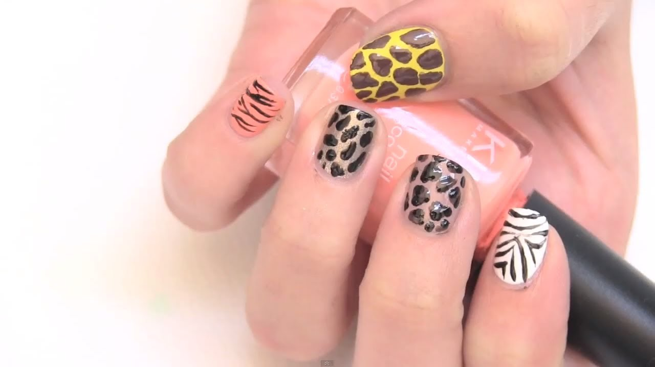 Pintado De Uñas Animal Prints Youtube