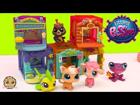 5 LPS Bobbleheads Littlest Pet Shop Mini Style Playset Cubes LPS Movies, Sushi + More Sets