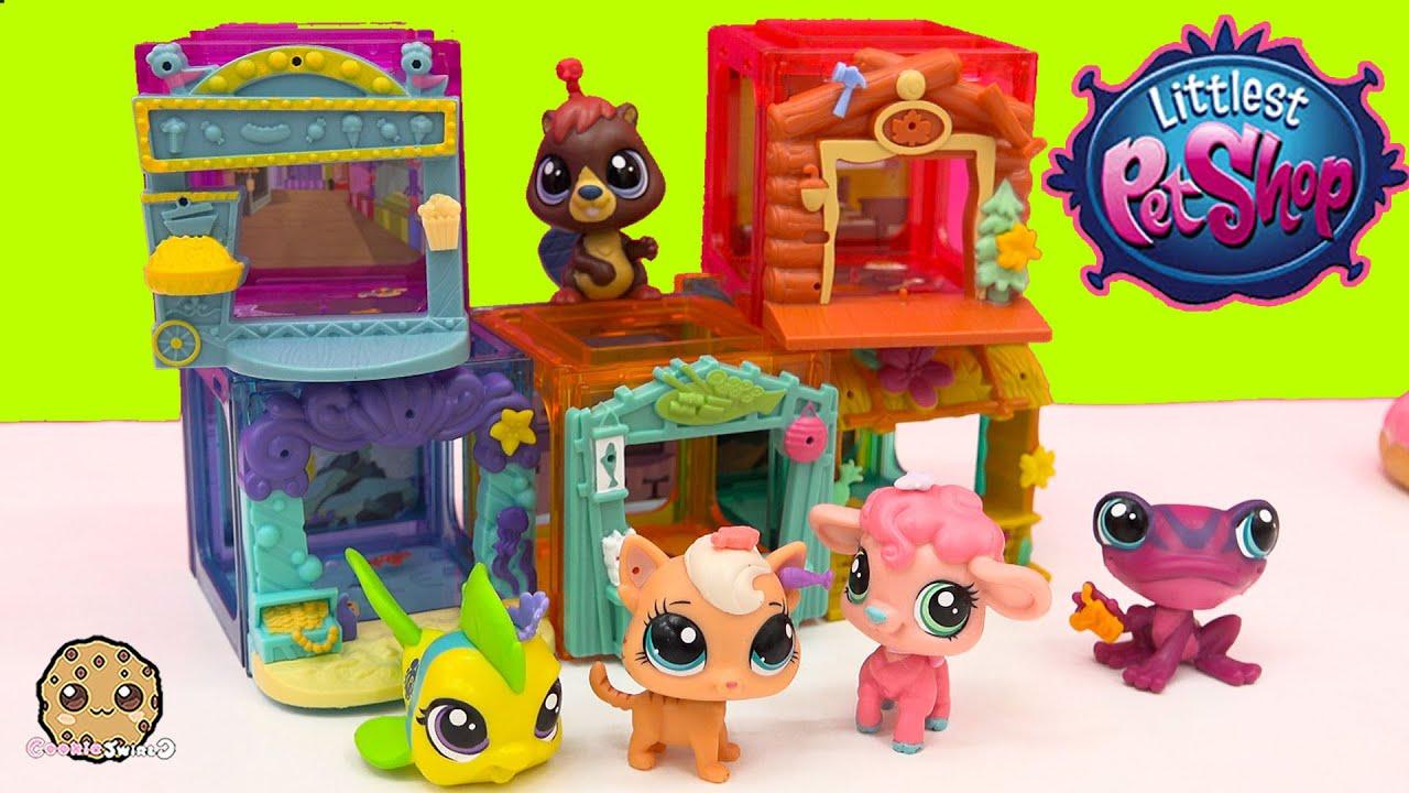 5 Lps Bobbleheads Littlest Pet Shop Mini Style Playset