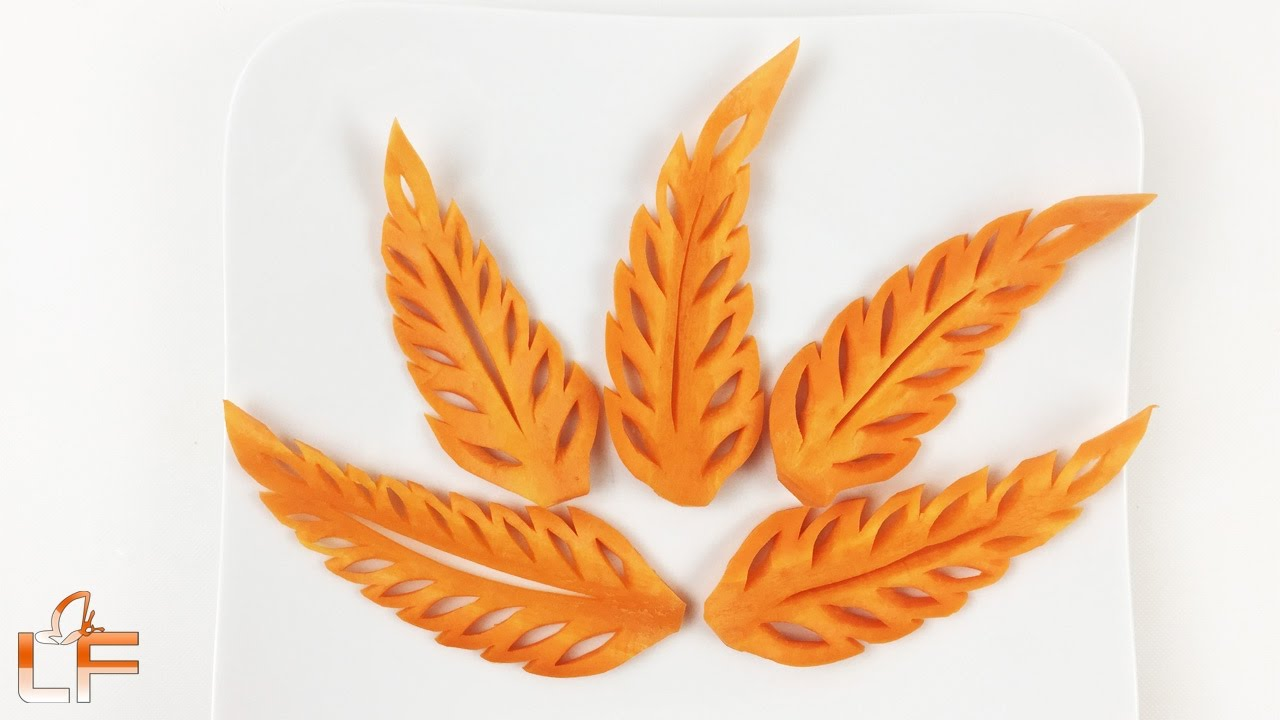 Simple Carrot Leaf Carving and Design - The Art Of Fruit And ...