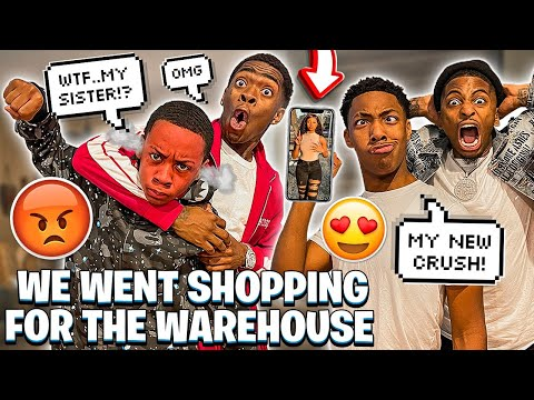 JAY GOT A CRUSH ON TYLER SISTER & WE WENT SHOPPING FOR WAREHOUSE! - FunnyMike