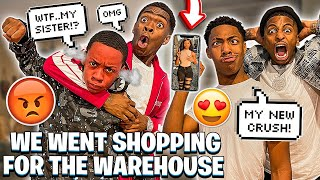 JAY GOT A CRUSH ON TYLER SISTER & WE WENT SHOPPING FOR WAREHOUSE!