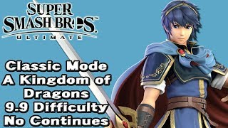 Super Smash Bros. Ultimate (Classic Mode 9.9 Intensity No Continues | Marth)
