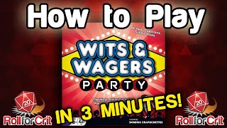 How to Play Wits & Wagers Party - Roll For Crit