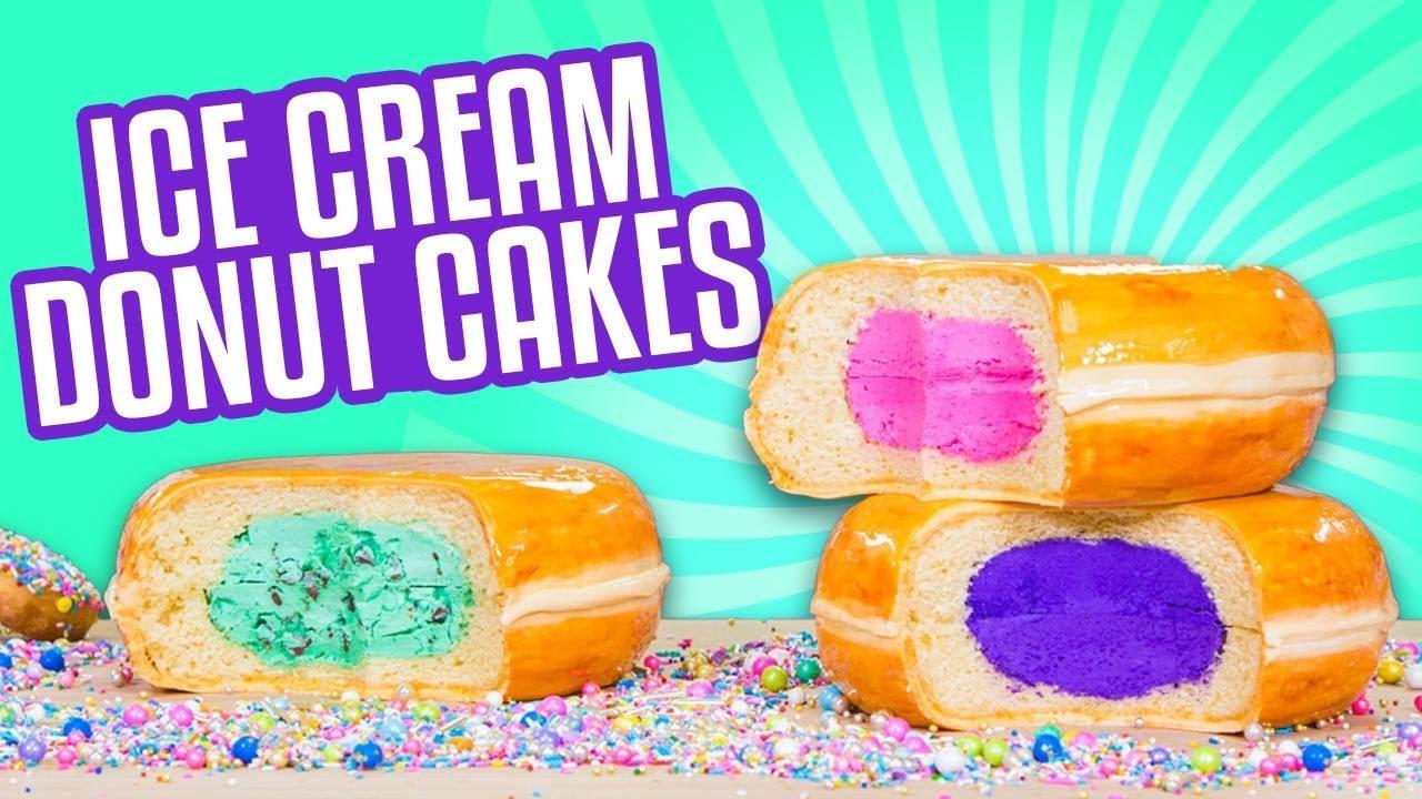 3 Flavors Ice Cream Donut CAKES! | How To Cake It