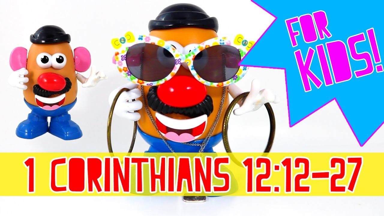 1 Corinthians 12 12-27 BIBLE STORIES FOR KIDS | Mr Potato Head | One Body Many Parts