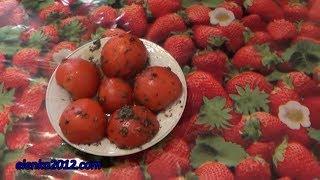 """Маринованные помидоры с чесноком и зеленью просто """"Пальчики оближешь"""""""