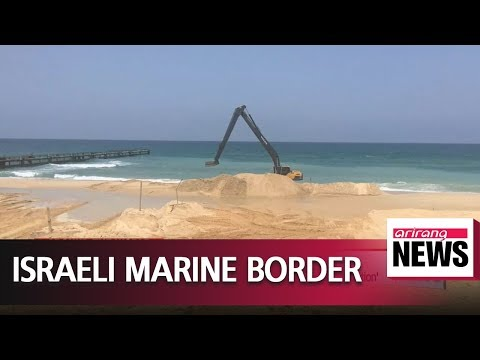 Israel constructs marine barrier along Gaza border to 'stop