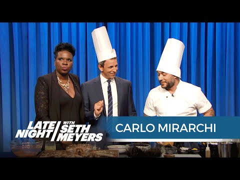 Leslie Jones and Seth Make Seafood with Carlo Mirarchi