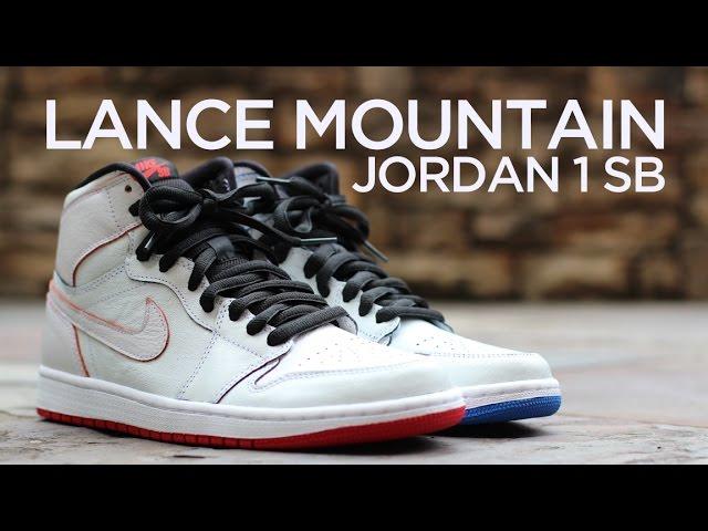 big sale e51ce 63097 Closer Look Lance Mountain x Jordan 1 SB - White - YouTube