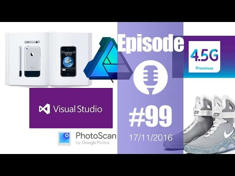 #99: Apple en photos, Font Awesome Pro, PhotoScan, Visual Studio, Affinity Designer, SprayPrinter