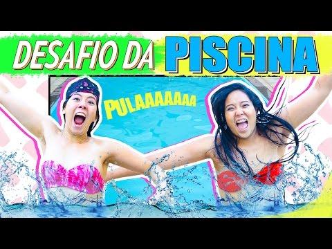DESAFIO DA PISCINA !! | Blog Das Irmãs