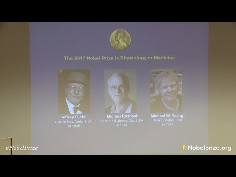 Announcement of the 2017 Nobel Prize in Physiology or Medicine