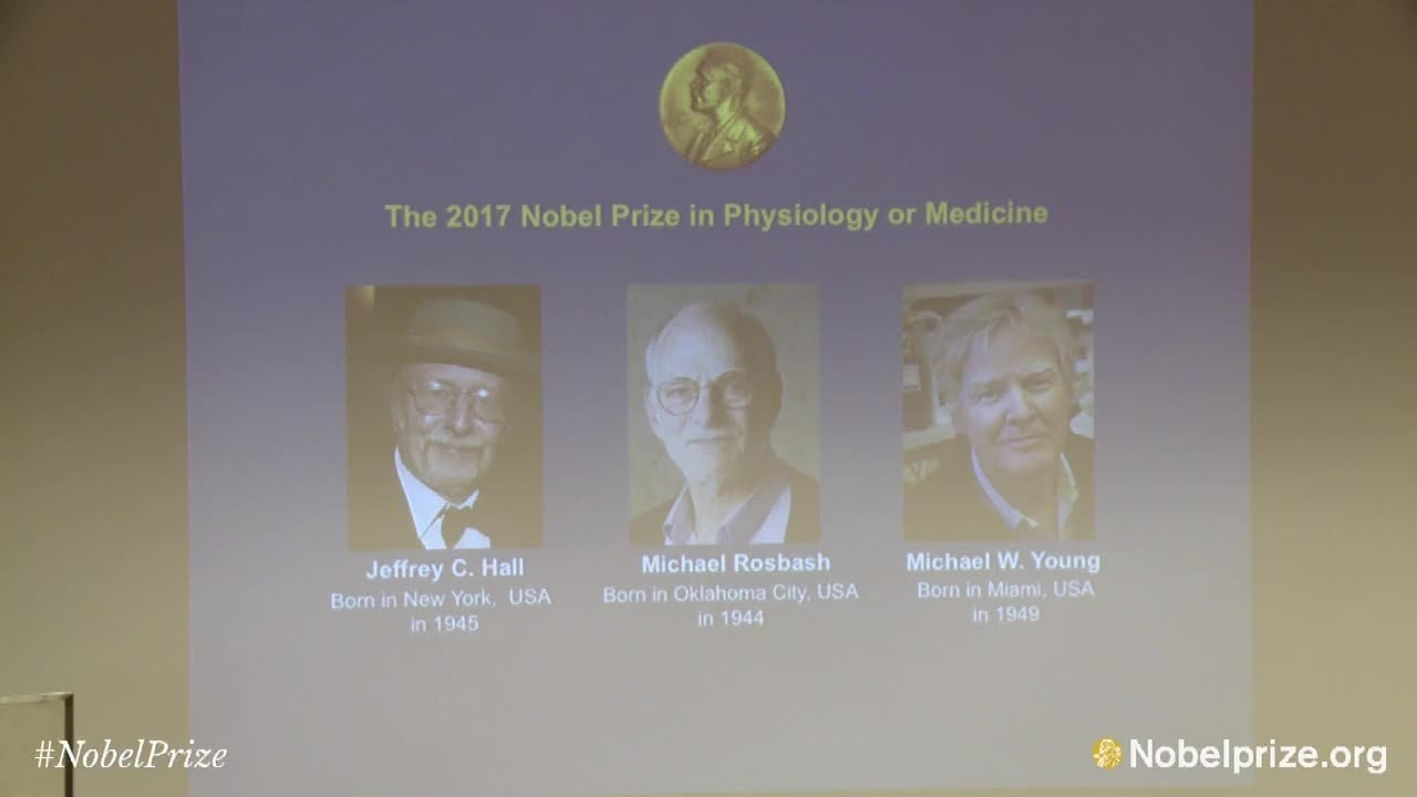 Announcement of the 2017 Nobel Prize in Physiology or Medicine ...