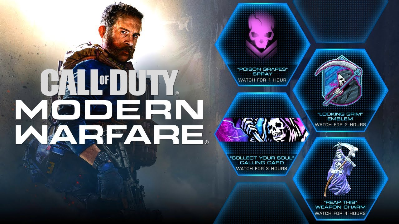 Modern Warfare Free Animated Emblem Card Charm Spray Youtube